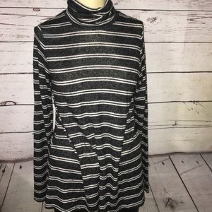 Merona long sleeve stripped turtle neck top